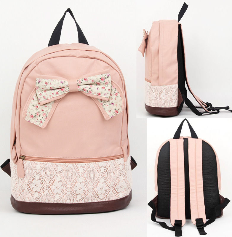Girly Bow Backpack on Luulla